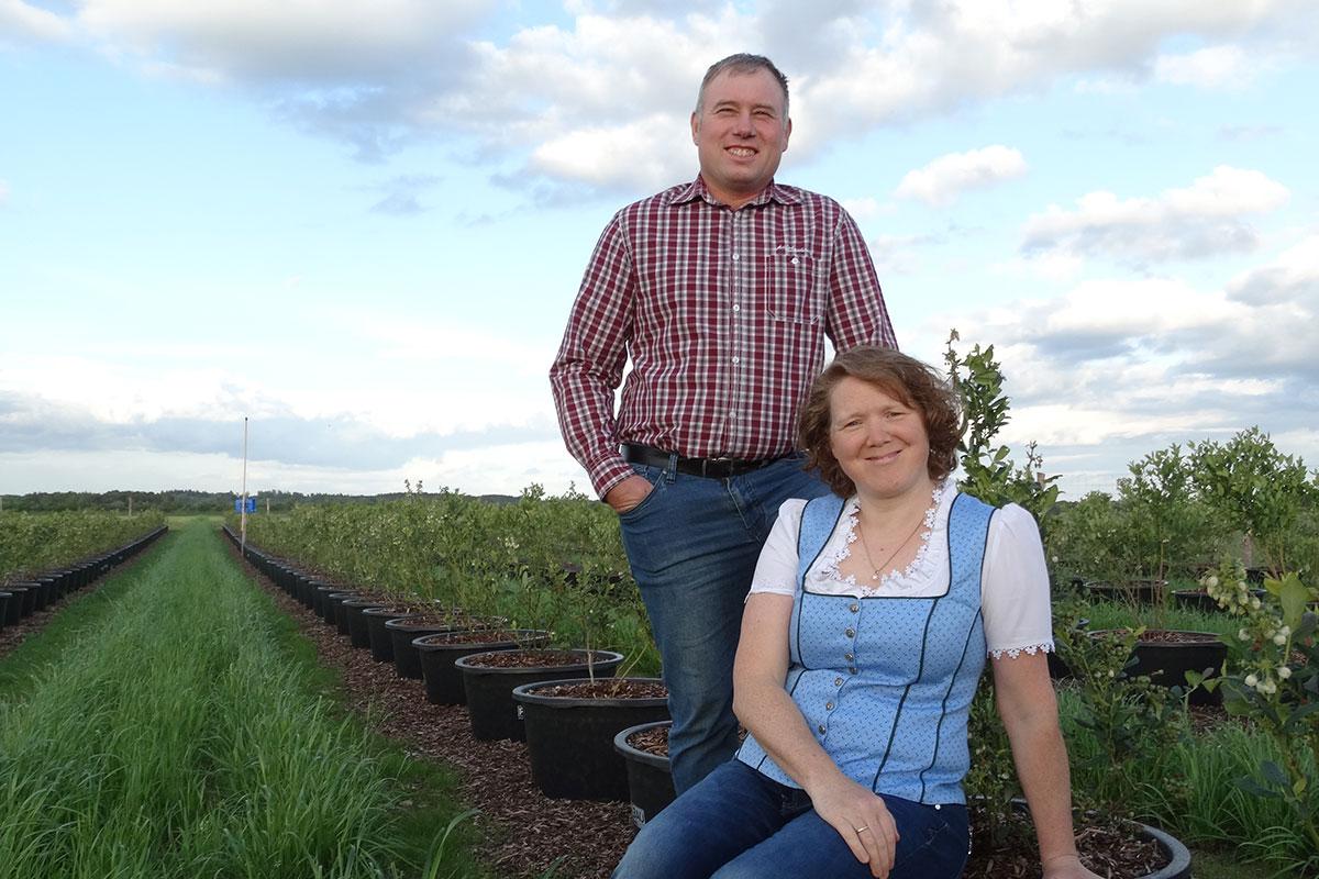 Beerenpflücken mit bei Familie Schmid in Hurlach